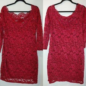 Acevog Off Shoulder Floral Lace Party Mini Dress